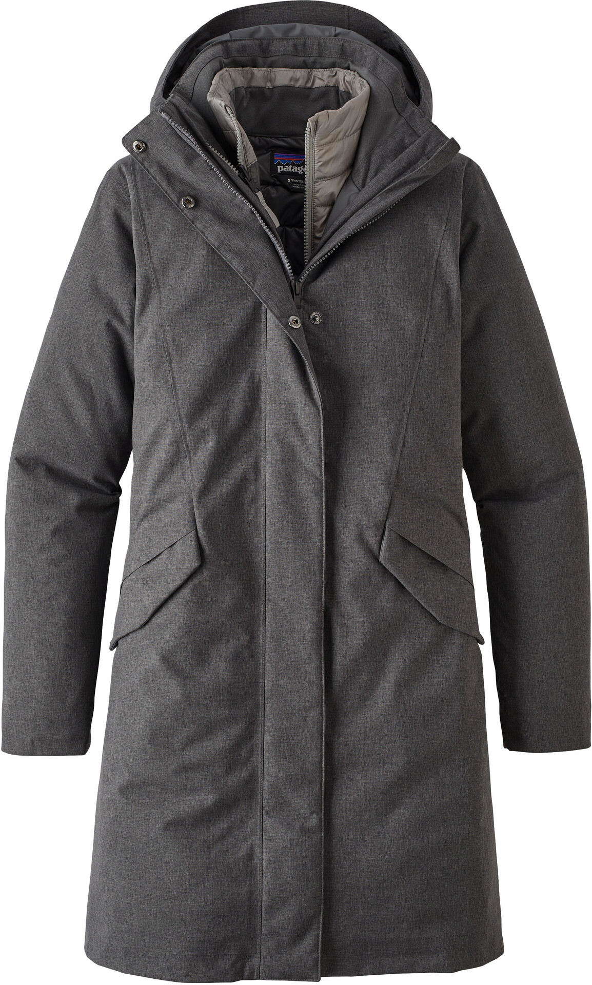 Patagonia Vosque 3 in 1 Parka Dames, forge grey